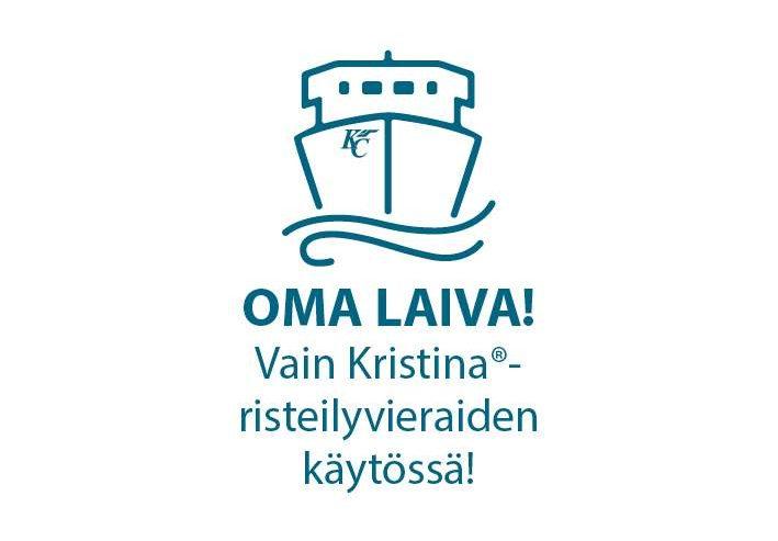 Oma laiva vain Kristina risteilyvieraiden käytössä vihreä