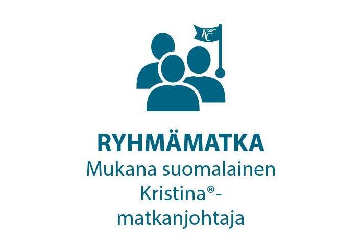 Ryhmämatka mukana suomalainen Kristina matkanjohtaja