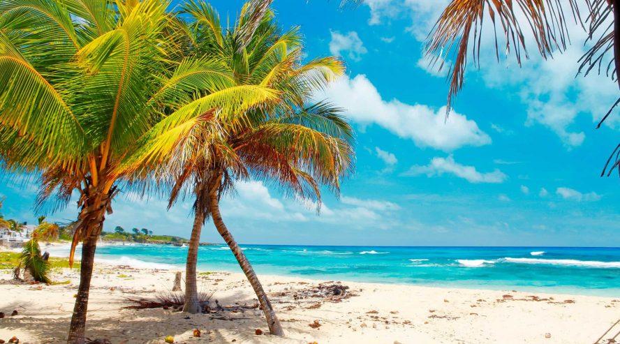 Jamaikalainen ranta Karibia