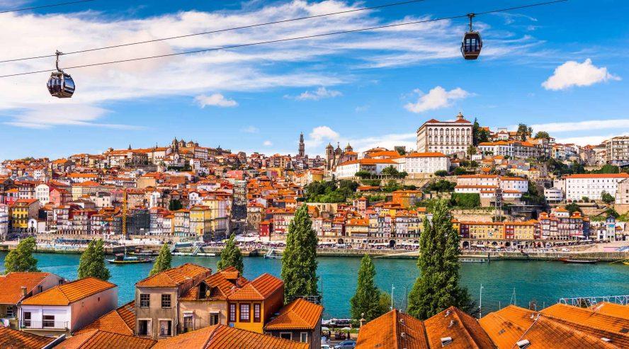 Porton kaupunki Oporto POrtugali