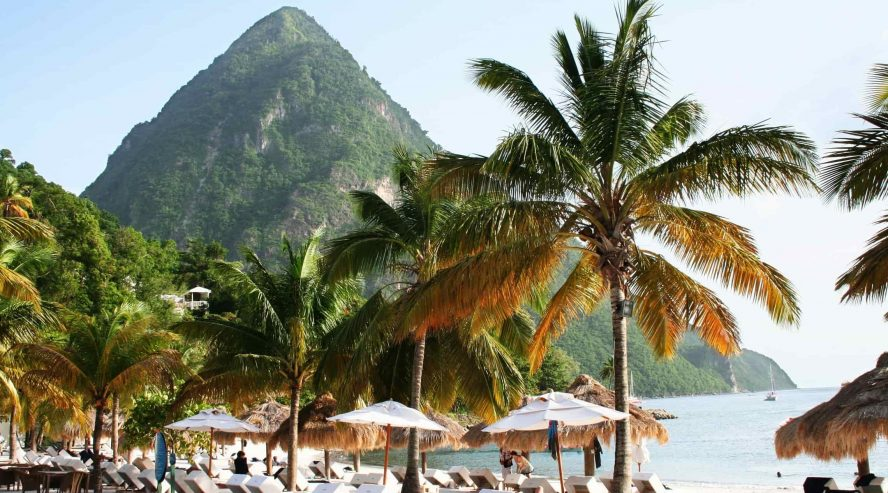St. Lucia Pitonit Karibia