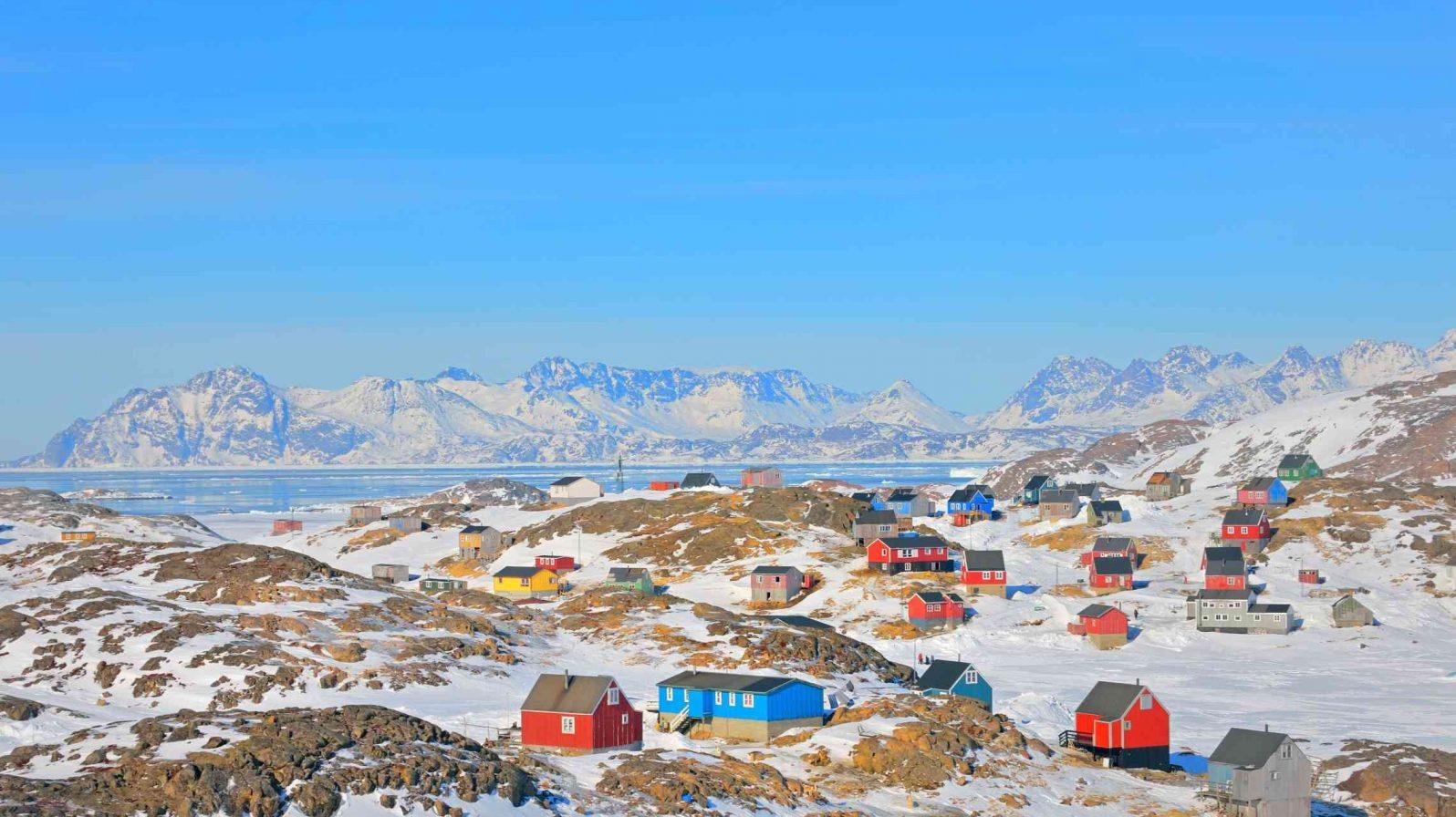 Värikkäitä taloja Grönlanti