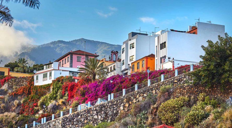 Vanhoja taloja Santa Cruz La Palma Kanariansaaret