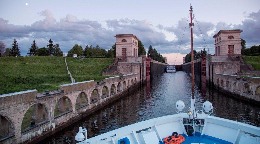 Volgajoen risteily Venäjä sulku 1