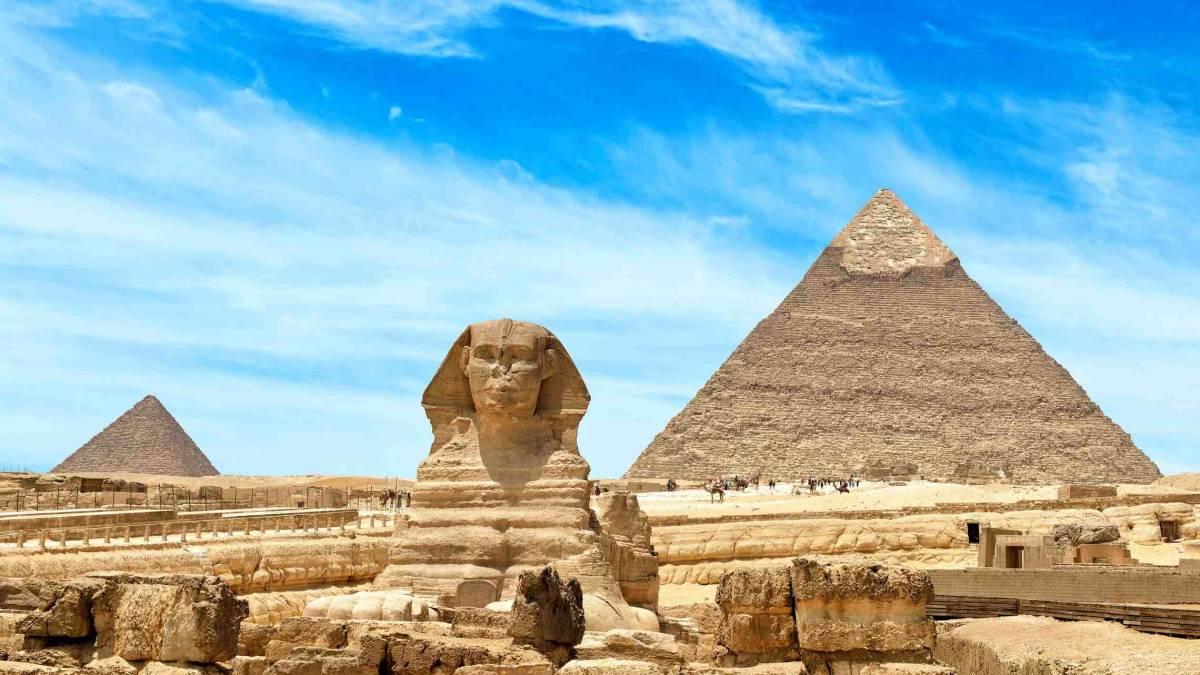 Gizan Pyramidit ja Sfinski Kairo Egypti