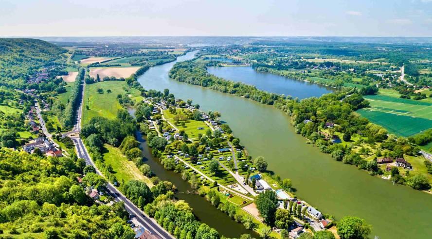 Seinejoki Normandia Ranska ilmakuva
