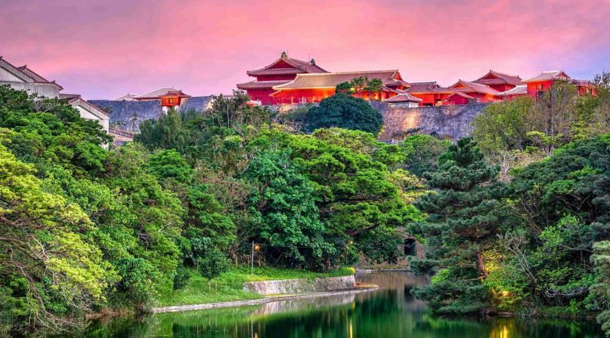 Naha Okinawa Shurin linna Japani
