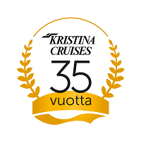 Kristina Cruises 35 vuotta logo