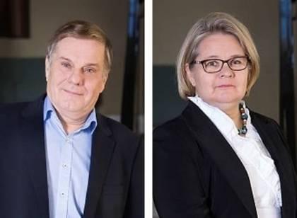 Mikko Partanen ja Anu Markkanen Kristina Cruises