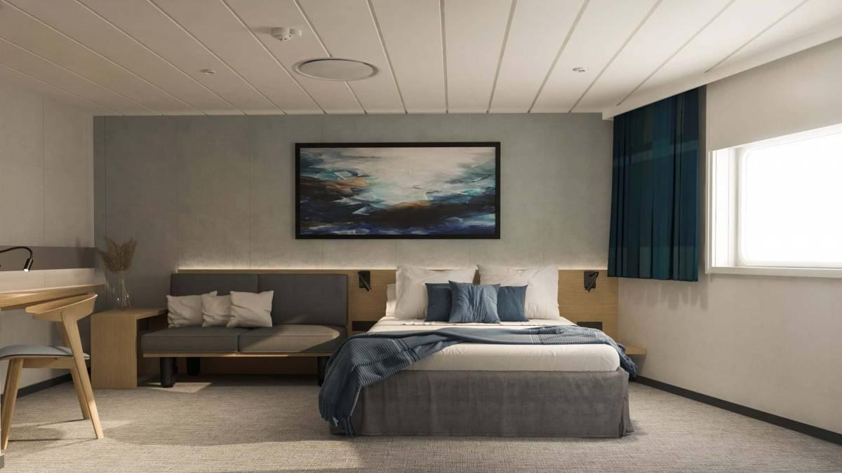 Havila Capella Castor Ikkunallinen Plus hytti c Havila Voyages 2021