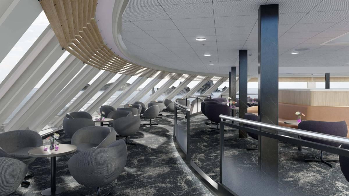 Havila Capella Castor Observation Lounge c Havila Voyages 2021
